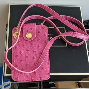 5/$100 Pink Vegan Leather Phone or Wallet Bag
